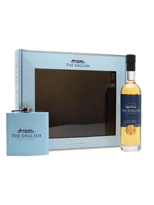 The English Original Single Malt Whisky / Hip Flask Set English Whisky
