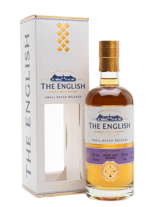 The English Gently Smoked Sherry Cask Single Malt English Whisky