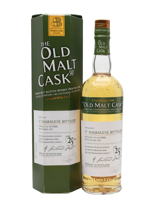 St Magdalene 1982 / 25 Year Old / Old Malt Cask Lowland Whisky