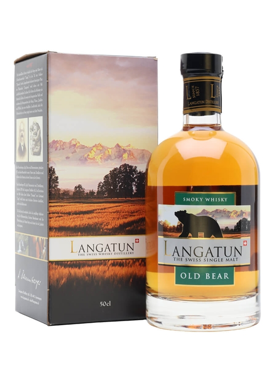 Langatun Old Bear Smoky Whisky Swiss Single Malt Whisky