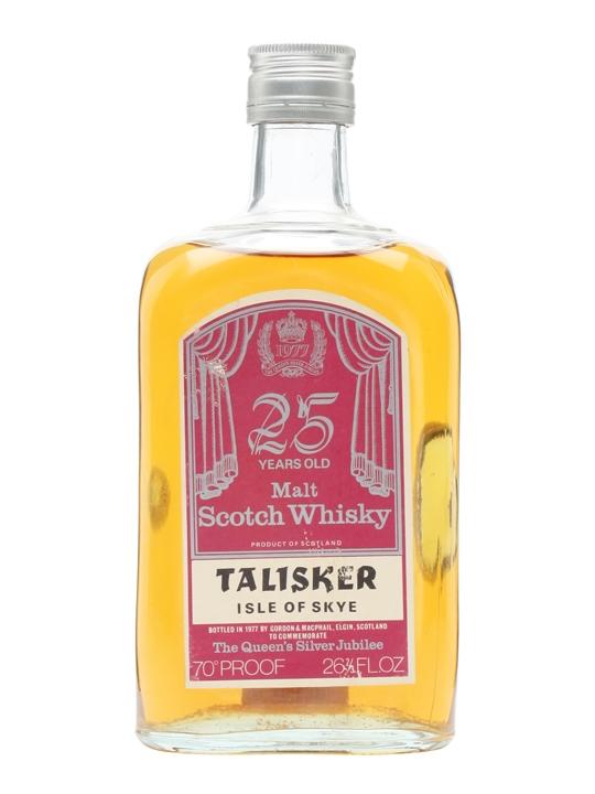 Talisker 25 Year Old / Silver Jubilee / Gordon & Macphail Island Whisky