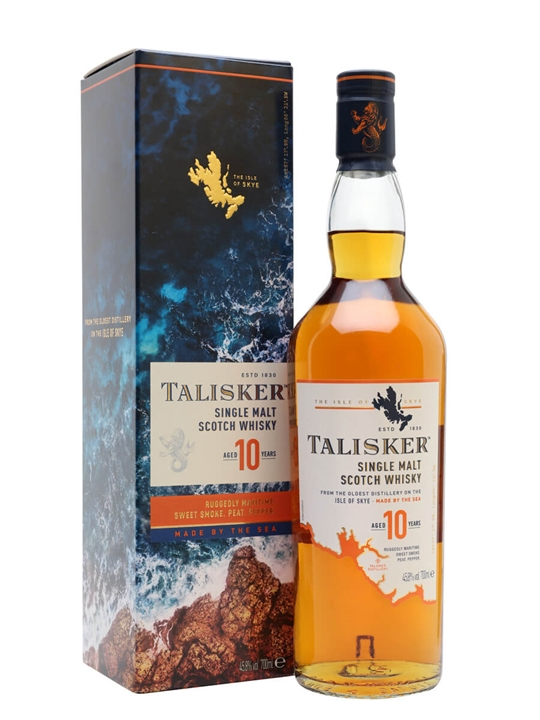 Talisker 10 Year Old Island Single Malt Scotch Whisky