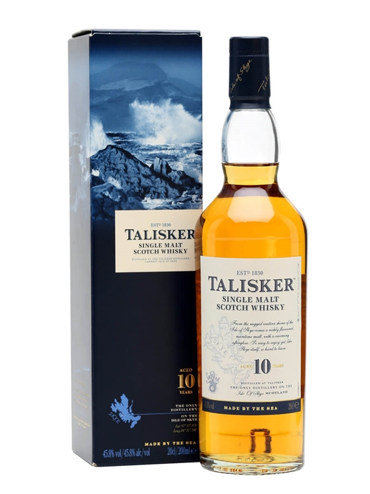 Talisker 10 Year Old / Small Bottle Island Single Malt Scotch Whisky