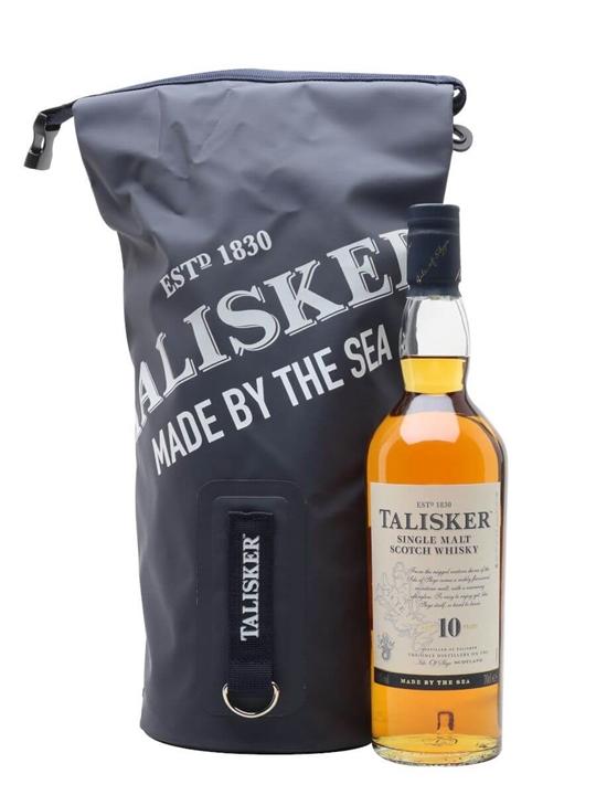 Talisker 10 Year Old Dry Bag Gift Set Island Single Malt Scotch Whisky