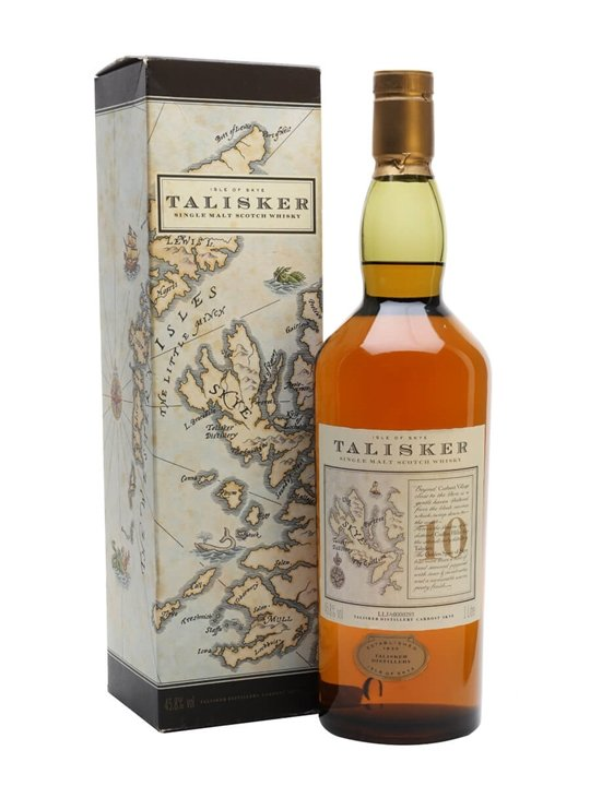 Talisker 10 Year Old / Map Label Island Single Malt Scotch Whisky