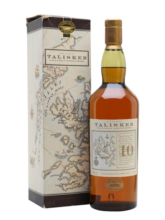 Talisker 10 Year Old / Map Label Island Single Malt Scotch Whisky