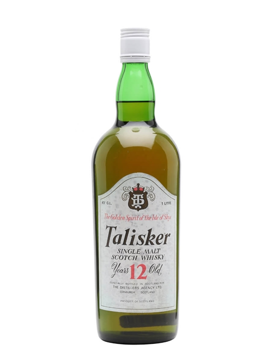Talisker 12 Year Old  Bot.1980s Island Single Malt Scotch Whisky