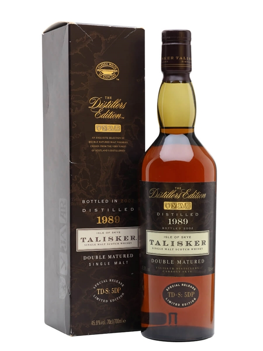 Talisker 1989 / Distillers Edition Island Single Malt Scotch Whisky