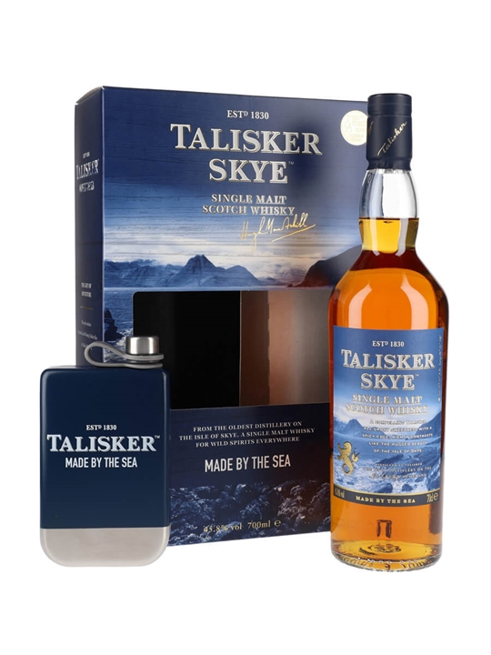 Talisker Skye / Hip Flask Pack Island Single Malt Scotch Whisky