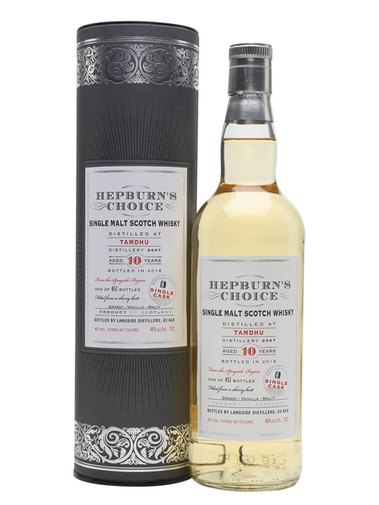 Tamdhu 2007 / 10 Year Old / Hepburn's Choice Speyside Whisky
