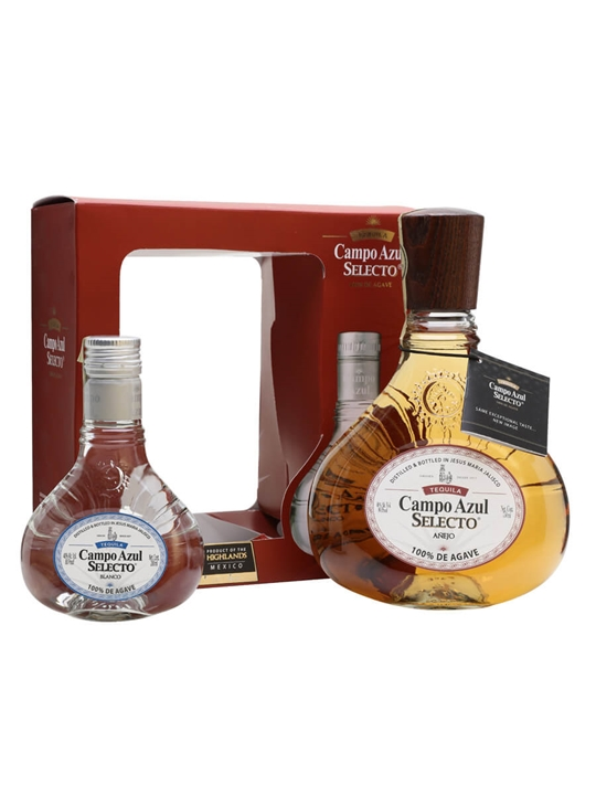 Campo Azul Anejo (75cl) and Blanco (20cl) Tequila Gift Set