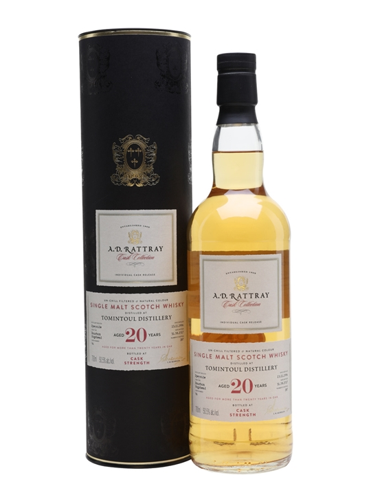 Tomintoul 1996 / 20 Year Old / A D Rattray Cask Collection Speyside Whisky