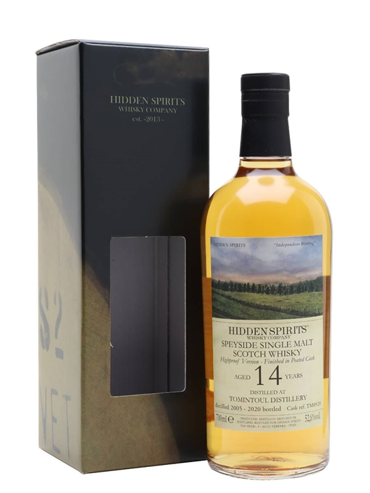 Tomintoul 2005 / 14 Year Old / Hidden Spirits Speyside Whisky