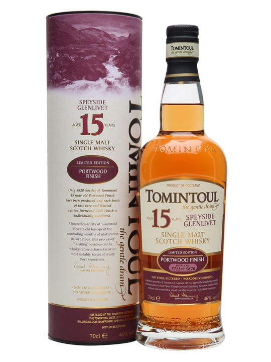 Tomintoul 15 Year Old / Portwood Finish Speyside Whisky