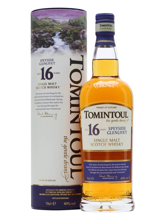Tomintoul 16 Year Old Speyside Single Malt Scotch Whisky