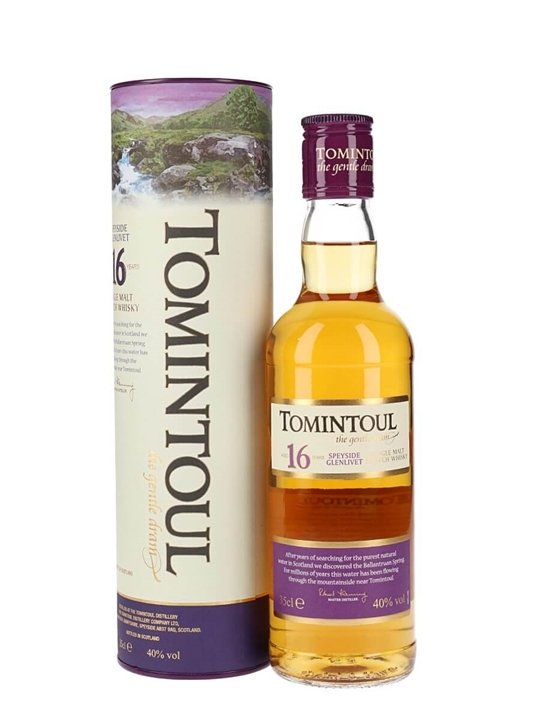 Tomintoul 16 Year Old / Half Bottle Speyside Single Malt Scotch Whisky