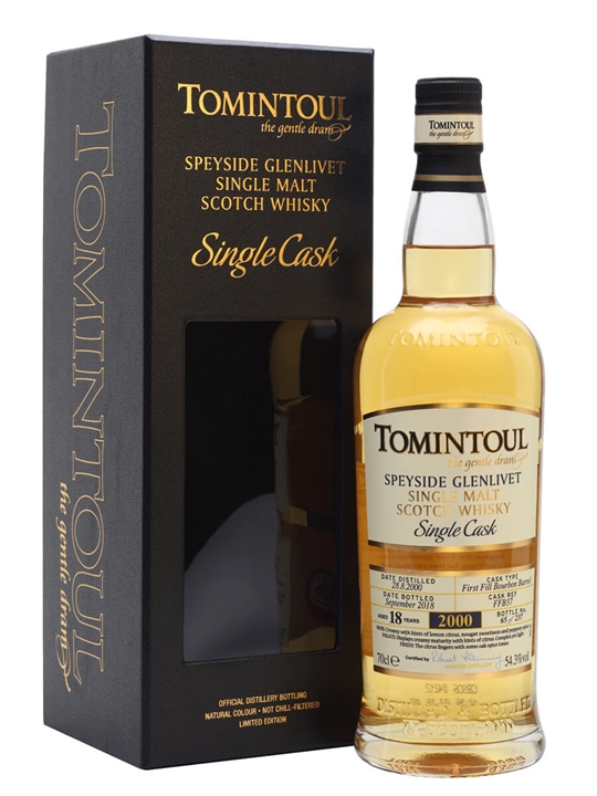 Tomintoul 2000 / 18 Year Old / Cask #37 Speyside Whisky