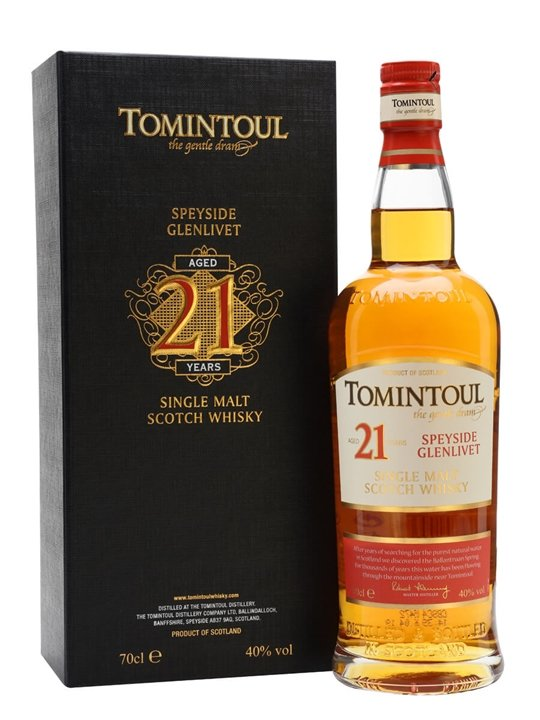 Tomintoul 21 Year Old Speyside Single Malt Scotch Whisky