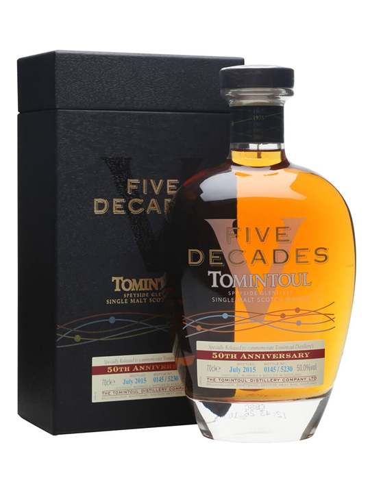 Tomintoul Five Decades / Bot.2015 / 50th Anniversary Speyside Whisky
