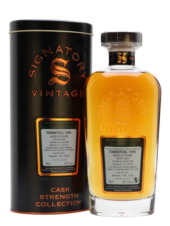 Tomintoul 1995 / 24 Year Old / Sherry Cask / Signatory Speyside Whisky