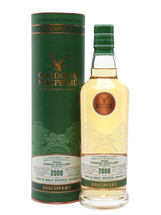 Tomatin Discovery 2008 / Bot.2019  / Gordon & MacPhail Highland Whisky