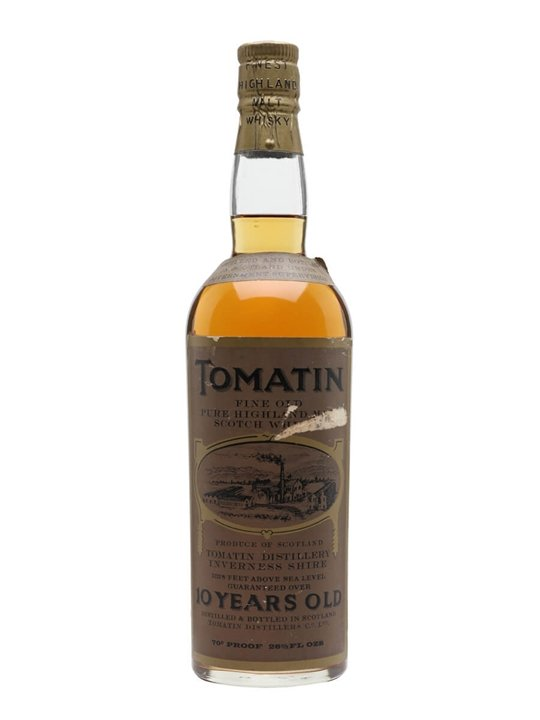 Tomatin 10 Year Old / Bot.1960s Highland Single Malt Scotch Whisky