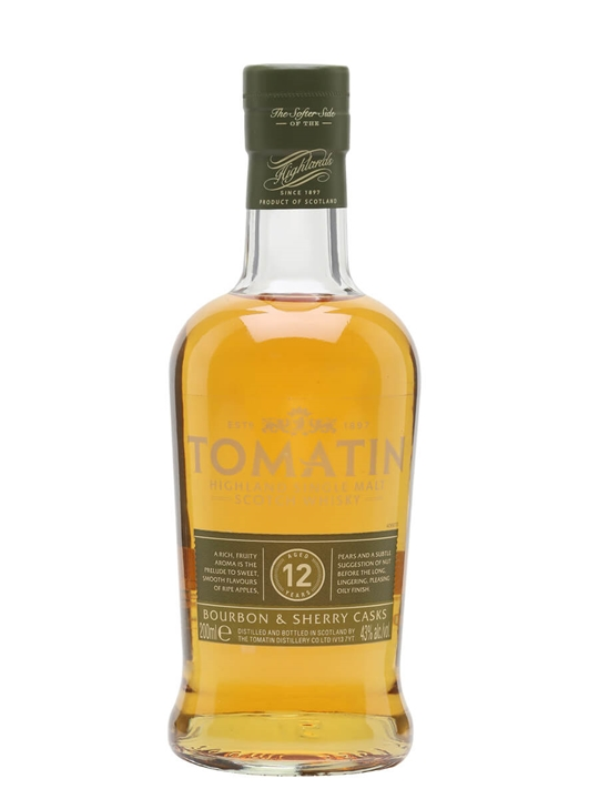 Tomatin 12 Year Old / Small Bottle Highland Single Malt Scotch Whisky