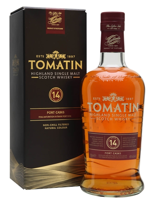 Tomatin 14 Year Old / Tawny Port Finish Highland Whisky