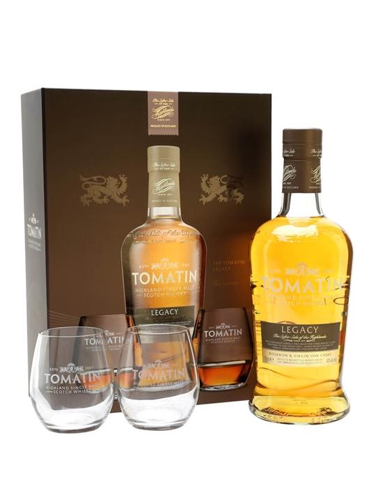 Tomatin Legacy + 2 Glasses / Gift Pack Highland Whisky