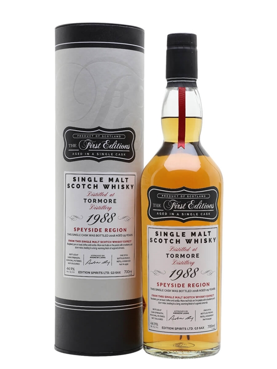 Tormore 1988 / 29 Year Old / First Editions Speyside Whisky