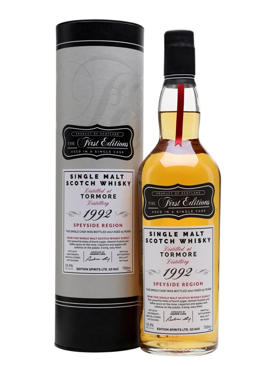 Tormore 1992 / 25 Year Old / First Editions Speyside Whisky