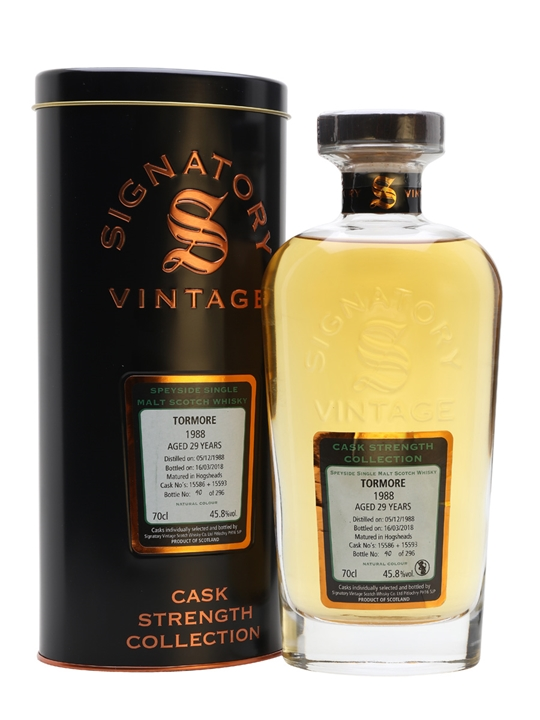 Tormore 1988 / 29 Year Old / Signatory Speyside Whisky