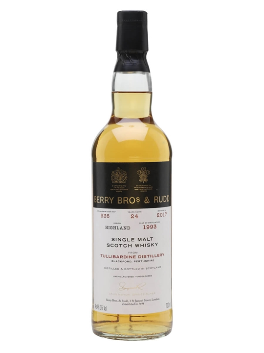 Tullibardine 1993 / 24 Year Old / Berry Bros & Rudd Highland Whisky