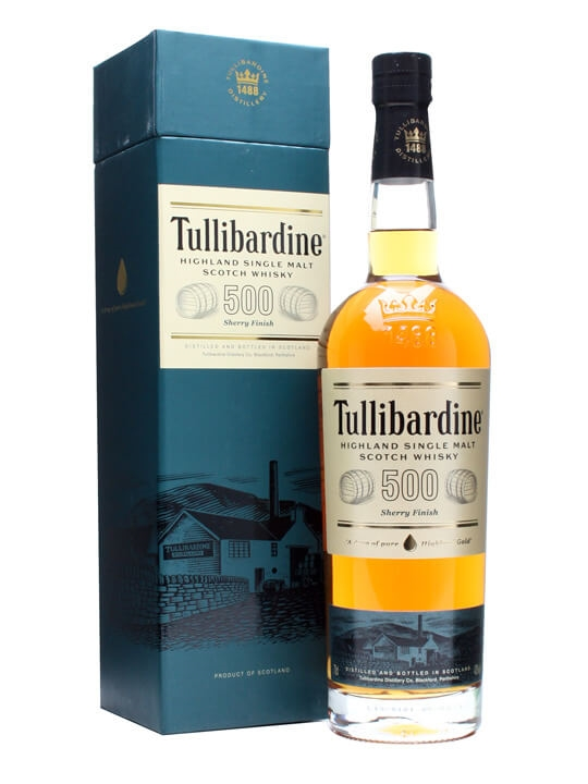 Tullibardine 500 / Sherry Finish Highland Single Malt Scotch Whisky