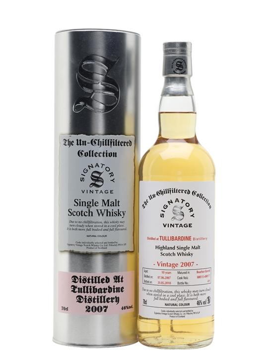 Tullibardine 2007 / 10 Year Old / Signatory Highland Whisky