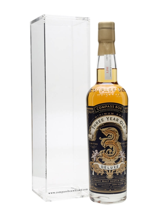 Compass Box Threeyear Old Deluxe Blended Malt Scotch Whisky