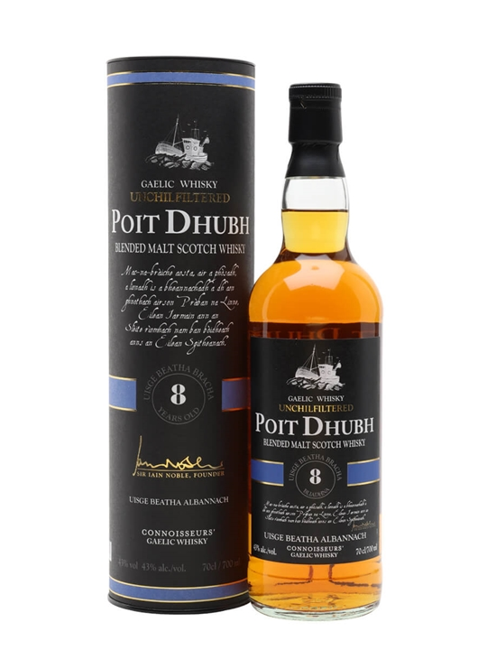 Poit Dhubh 8 Year Old Blended Malt Scotch Whisky