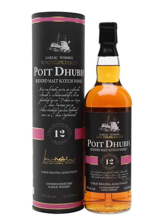 Poit Dhubh 12 Year Old Blended Malt Scotch Whisky