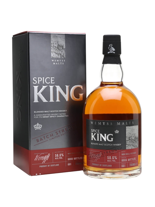 Wemyss Malts Spice King Cask Strength Batch No 001 Blended Whisky