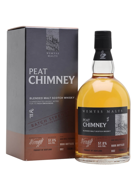 Wemyss Malts Peat Chimney Cask Strength Batch No 002 Blended Whisky