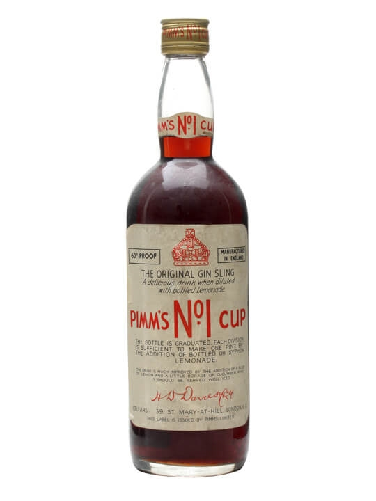 Pimm's No.1 Cup / Gin Sling / Bot.1960s