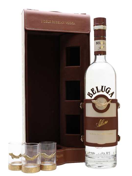 Beluga Allure Vodka + 3 Shot Glass Gift Pack