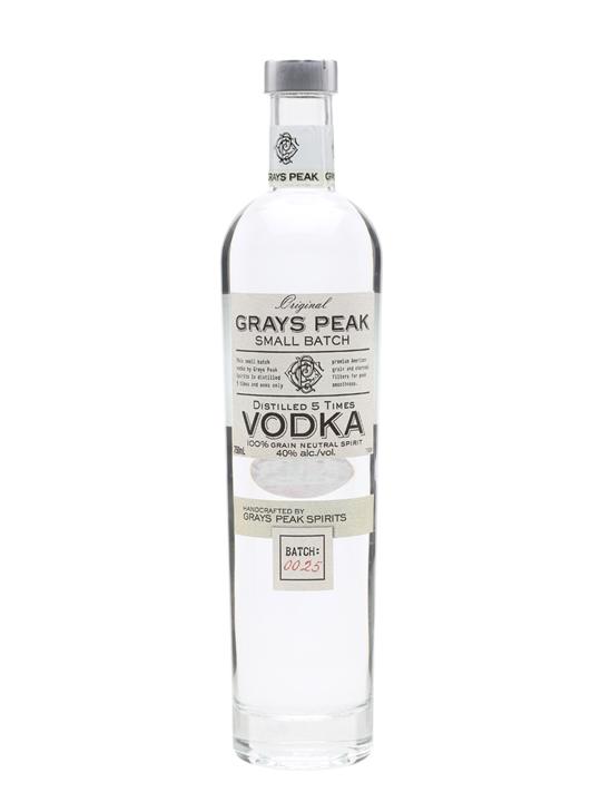 Grays Peak Vodka