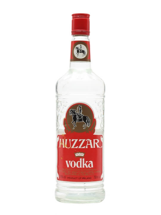 Huzzar Irish Vodka / Bot.1980s