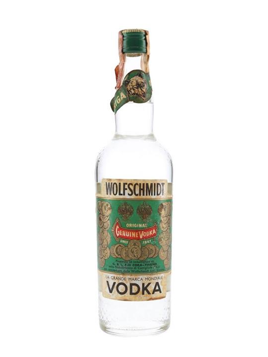 Wolfschmidt Vodka / Bot.1970s