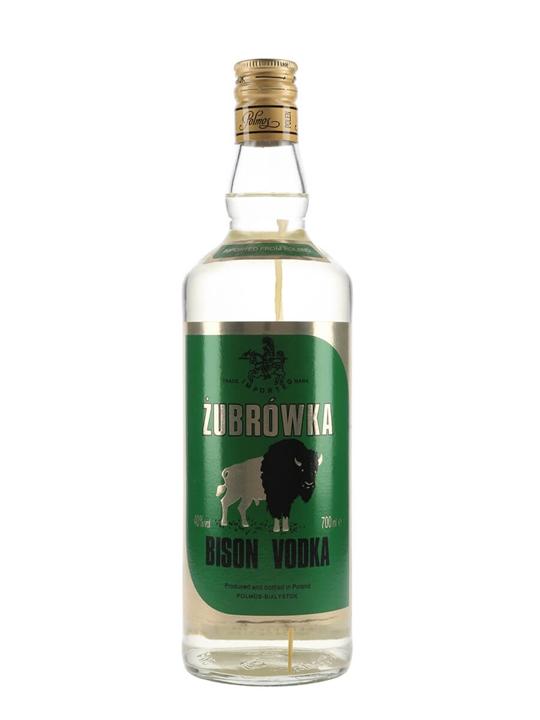 Zubrowka Bisongrass Vodka / Polmos / Old Presentation